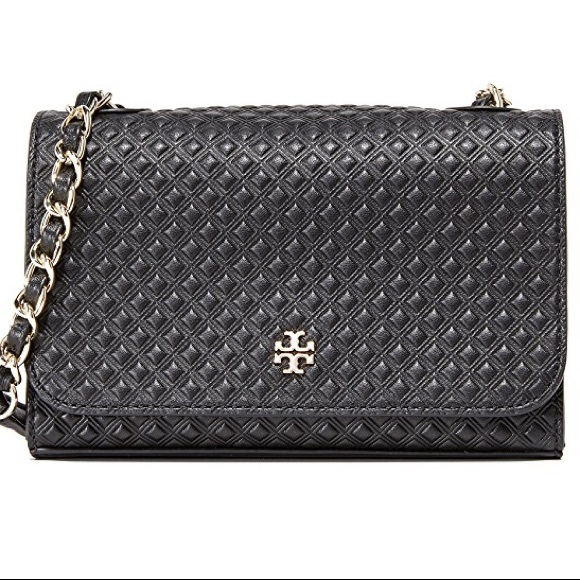 1782e617e09 Tory Burch Marion Embossed Shrunken Shoulder Bag